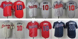 Wholesale Cheap Men Chipper Jones Jersey Embroidery Logos Atlanta Braves Baseball Vintage Best Quality Authentic Aimee Smith Store