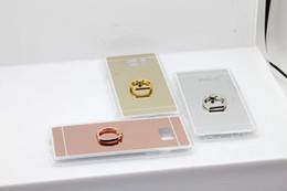 Descuento anillo de metal espejo Bling espejo plástico de moda TPU caso + anillo de dedo de metal para Iphone 7 / Plus / 6 6S / Plus / SE 5 5S cromado Placa de sujeción de la piel de la PC de la galjanoplastia