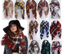 Fashion Women Plaid Scarf Warm Soft Winter Blanket Pashmina Scarf Oversized Tartan Scarf Women Shawl Scarf Scarves & Wraps Christmas