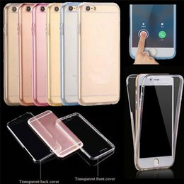 360 Degree Case Cover for iPhone 7 7Plus 5s 5 SE 6s 6 Plus Front Back Cover Case Clear TPU Soft Gel Shell Full Coverage Clear Cover Case