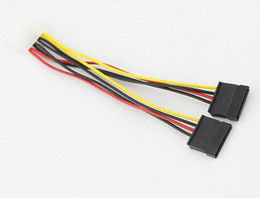 Wholesale 500pcs Serial ATA SATA Pin IDE Molex to of Pin HDD Power Adapter Cable Hot Worldwide Promotion