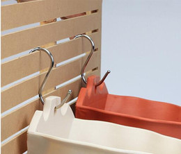 Wholesale Stainless S Hooks Kitchen Pot Pan Hanging Hanger Rack Home Clothes Holder