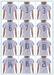 Wholesale Fast Women s Italy European cup DEL PIERO PIRLO VERRATTI MARCHISIO DE ROSSI White Away Soccer Jersey shirt