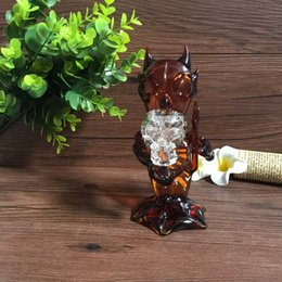 Wholesale Brand new Amber colored Demon Glass pipes Devil glass smoking pipes glass water pipes with cm height