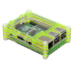 Absolutely High Quality Green 9 Layers Sliced Acrylic Case for Raspberry Pi Model B+ and Raspberry Pi 2 Model B