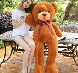 2015 filled Large bear 1m Meters for choose Teddy Bear Lovers Big bear Arms Stuffed Animals Toys Plush Doll Birthday gift