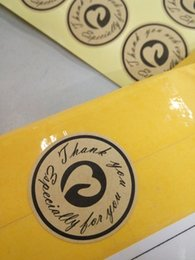 "126pcs ""Thank you"" sticker, Paper labels - Circular design kraft paper self-adhesive seal sticker label, DIY hand stickers seal"