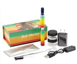 Pluma vaporizador de hierbas en Línea-Bob Marley seca la pluma de la cera de la hierba 510 hilo la batería 650mAh contra el kit del arrancador de Snoop Dogg vaporizador herbario del atomizador DHL shipping