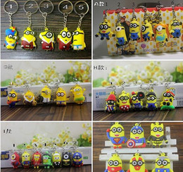 Wholesale 2016 Marvel Avengers Superhero Keychains Minions Kitty Angry bird Key Chains Keyring Micky Zootopia Key Ring