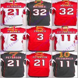 Wholesale NIK Elite Football Stitched Cardinals Palmer Larry Fitzgerald Peterson Tyrann Mathieu White Red Black Jerseys Mix Order