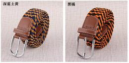 Wholesale-2015 Summer Style Belt Fashion Woven Elastic Canvas Belt Alloy Buckle Waist Strap Designer Belts For Women Free Shipping