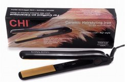 Wholesale Best seller Classical CHI BLACK Hairstyling Flat Iron with Retail Box hair straightener DHL high quality