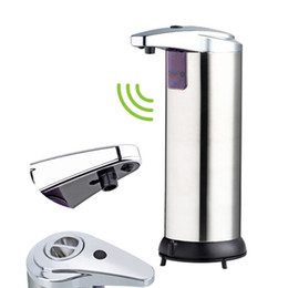 400ml Automatic Liquid Soap Dispenser Built-in Infrared Smart Sensor Touchless Sanitizer Dispenser for Kitchen Bathroom
