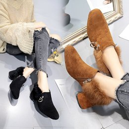 Sexy women shoes Winter new fashion Korean luxury high heel with scrub in the boots with the side zipper bow Martin boots shoes
