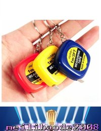 Wholesale Carbon Key Chain - Mini 1M Tape Measures Small Steel Ruler Portable Pulling Rulers With Key Chain Gauging Tools free shipping MYY