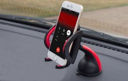 Wholesale Car Inch Gps Holder - Universal 360°Rotating Car Windshield Mount Holder For Cell Phone GPS 4-7 inch iPhone Samsung HTC LG