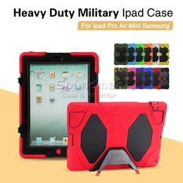 Wholesale iPad pro inch Heavy Duty Military Extreme silicone Stand Robot Case Ipad air Samsung Galaxy Inch