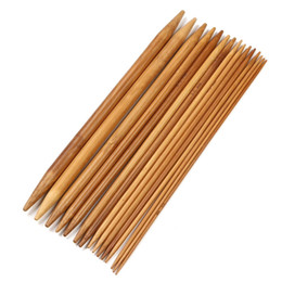 Wholesale 75 Sizes Inch Double Pointed Carbonized Bamboo Knitting Needles Set Smooth Crochet Tool Needle Arts Accessory
