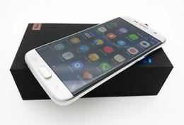 Pouces 1gb en Ligne-Android 6.0 goophone s7 bord téléphone smartphone 5,5 pouces 64 bits quad core MTK6580 téléphones cellulaires réel 1 Go de RAM 4 Go ROM montrent 32 Go faux 4G Lte