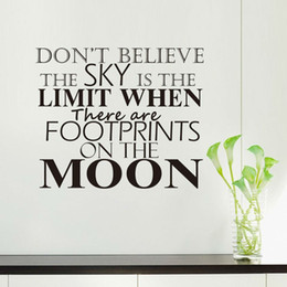 Canada Il y a Footprints On The Moon Autocollant Mural Salon Home Decor DIY amovible Vinyl Wall Decal Offre