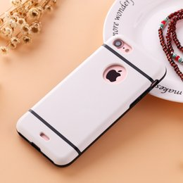 Wholesale 12 Colors Phone Cases For Apple iphone Plus Case Soft TPU and PC case Protective Phone Covers Coque Accept customzied logo