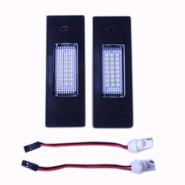 NEW Pair Error Free 24 3528 SMD LED License Plate Light for BMW E63 E64 E81 E87 E85