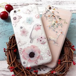 Wholesale iphone apple s phone case cover D Artificial colored painted flower matt soft tpu shell iphone6plus transparent tpu silicon cover