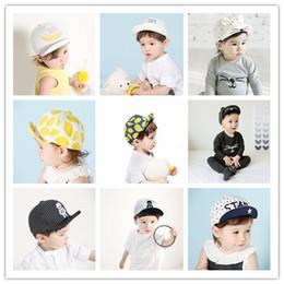 Wholesale Baby Hats Girls Boys Caps Baseball Cap Peaked Cap Bernat Korean Fruits Lemon Outdoor Travel Beach Hot Baby Caps Patterns