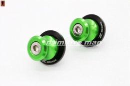Wholesale For KAWASAKI Z800 Motorcycle Accessories Swingarm Spools slider mm stand screws LOGO Z800 Green screw lowes