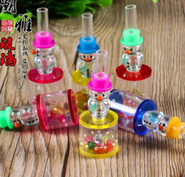 Wholesale The new acrylic aquarium filter snowman card by super silencers glass hookah accessories Glass pipes Glass bubbler Glass glass o