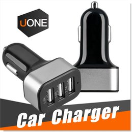 Wholesale For iPhone s Car Charger Traver Adapter port Universal Rapid Portable Quick USB Car Plug Cigarette Chargers for Android Smart Phone