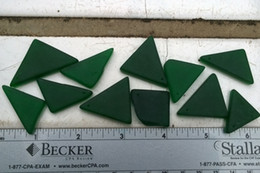 "Bulk 1.5"" Large Pine Green Sea Glass Beads Drilled Jewelry Necklace Pendant Earring Decor JCT ECO®"
