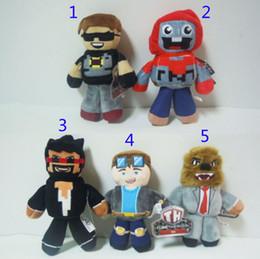 Juegos para niños en venta-18-23CM HÉROES DE TUBO TDM juguetes de muñecas de felpa EMS 5 niños de estilo de dibujos animados Juegos de Anime Juegos de muñecas de película Niños regalo muñecas de peluche B001