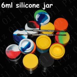 food grade silicone wax container 6ml dabber jars silicone non-stick container honey oil cosmetic container silicone rubber jar