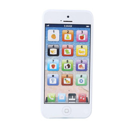 Wholesale White Baby YPhone Mobile Phone Educational Toy Gift USB Cable Xmas