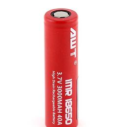 Best-selling AWT 18650 3000mAh 40a rechargeable vape pen awt battery for Wax Vaporizer Starter Kit dripbox 160w starter kit