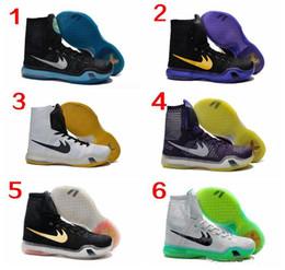 2016 Kobe X Elite Basketball Shoes Men Retro High Cut Kobe 10 Boots Sneakers Hight Cut Weaving Sports Shoes Size 40-46