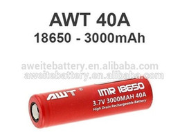 Top quality AWT 18650 40A battery 3000mAh vape mod 3.7v box mods istick 70w vape pen TC box mod 150w mods vape