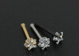 Wholesale NS51031 Free Ship anti allergy steel piercing body jewelry mm cz stone labret monre nose stud nose ring