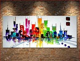 Wholesale 20 x pulgadas salón salón pared del cartel imagen de arte colores gruesos cuchillo de paleta pintura al óleo sobre lienzo art wall art ca