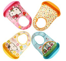 Wholesale Children eat baby bibs waterproof bib pocket bib children meals to feed the baby silicone pocket cover rice pocket