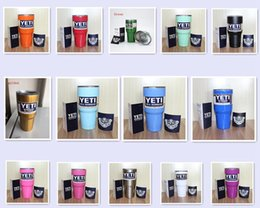 Wholesale The best quality NEW Colors YETI Tumbler Rambler Cups Large Capacity Stainless Steel Tumbler Mugs Cooler cup