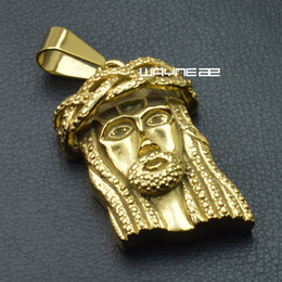 Men or womens gold filled stainless steel Jesus Christ Pendant N330