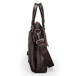 2016 Men Casual Briefcase Business Shoulder Leather Messenger Bags Computer Laptop Handbag Men's Travel Bags