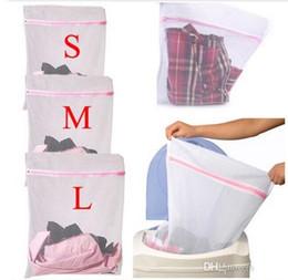 Wholesale DHL Fedex Size Washing Machine Specialized Underwear Washing Bag Mesh Bag Bra Washing Laundry underpants Care wash Net Laundry Bag L33