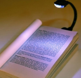 Mini Flexible Clip on Clip-On Bright Book Light Booklight Laptop LED Book Reading New Free Shipping