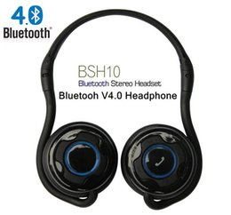 Wholesale Sports BSH10 Bluetooth4 EDR Noise Cancellation Callmate Folding Stereo Headset Headphone With Mic phone for iphone Samsung HTC