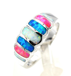 Graceful Multicolor Rainbow Fire Opal Rings for Christmas