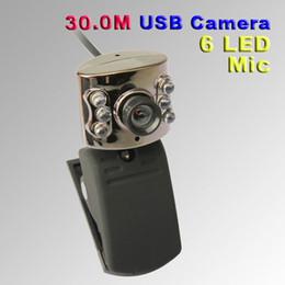 Descuento soltar la leva 30.0M USB 6 LED cámara webcam con micrófono Web Cam para PC de sobremesa Portátil nave de la gota libre
