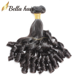 Bella Hair® 8A Funmi Baby Curly Peruvian Hair Spring Curl Loose Wave Natural Black Hair Extension Unprocessed Hair Weft Free Shipping